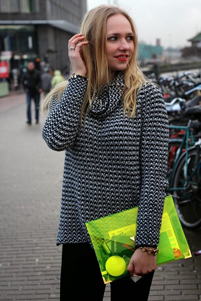 sarandipity mbfwa fashionweek amsterdam fashion blogger outfit ootd hm zara primark fornarina fossil neon yellow