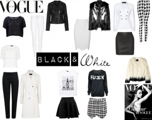 Black white fashion trend report blog sarandipity fashionblogger topshop forever21 boohoo