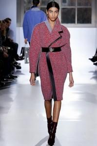 balenciaga coat bordeaux wool waistbelt sarandipity
