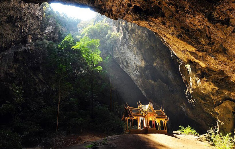 thailand wallpaper cave tourist attraction