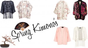 Spring 2014 trends Kimono asian cardigan styling trends fashion inspiration flower print fringes