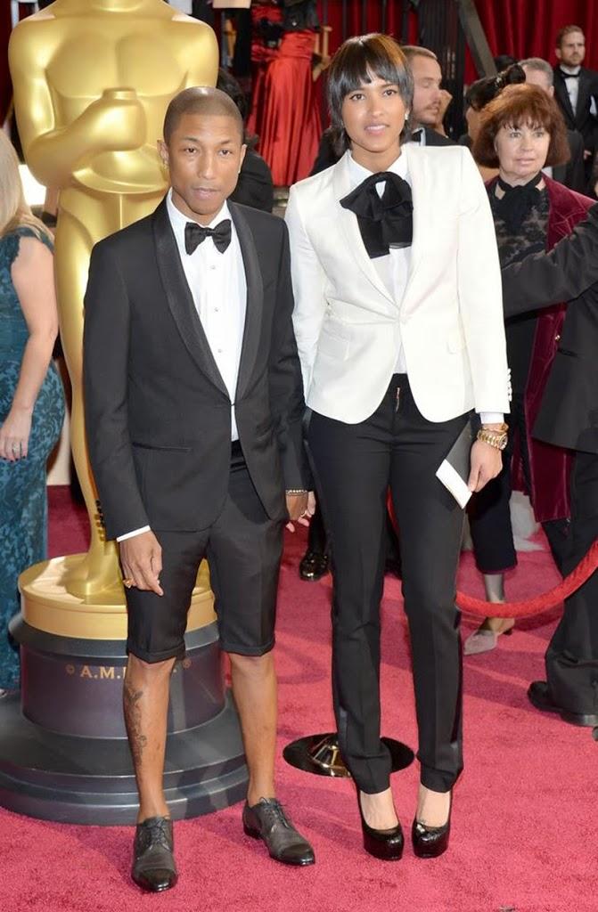 sarandipity fashion blog oscars 2014 report pharrel williams helen lasichanh lanvin suits