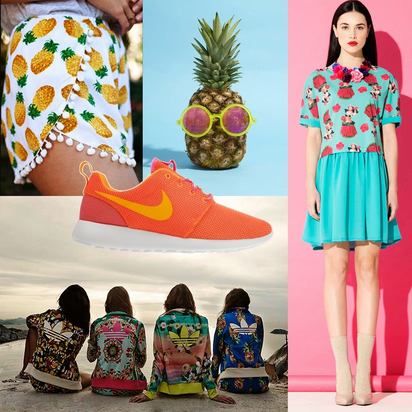 fashion adidas lovlet nike fruity floral hawaii pinapple tropical sarandipity inspiration blog dutch