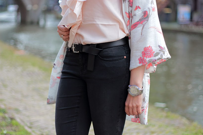 michael kors belt H&M Noisy May outfit dutch fashion blog