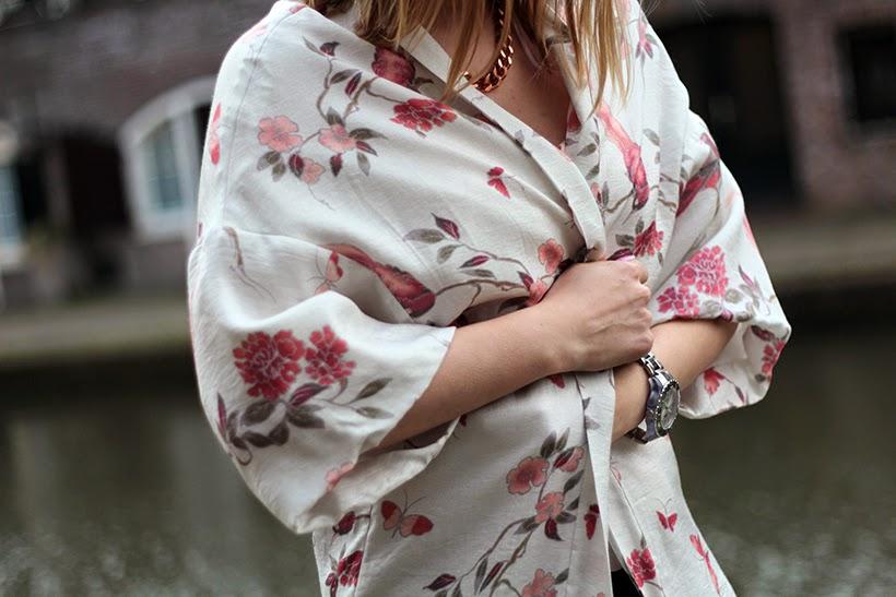 H&M spring kimono asian styling