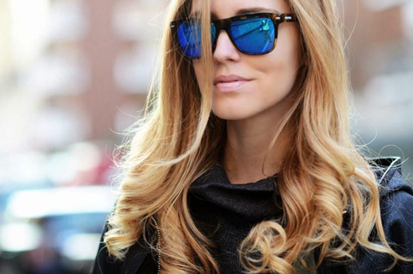 chiara ferragni blonde salad blogger fashion inspiration sunglasses