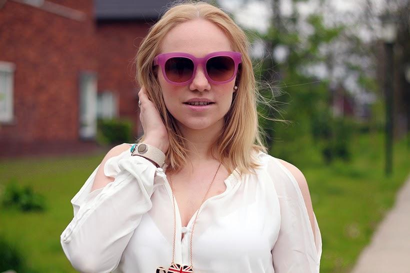AM Eyewear fashion blog sarandipity eye respect amsterdam pink sunglasses blogger style