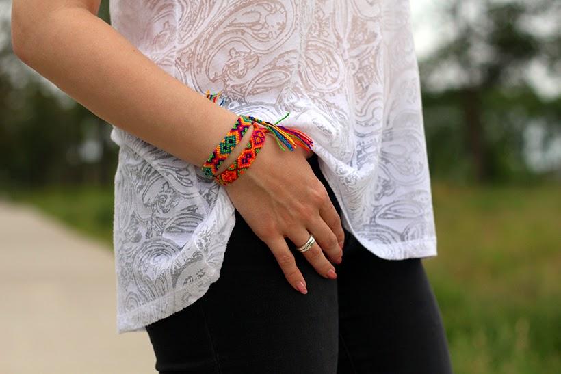 outfit monochromatic wayuu bracelets my mochila hm noisy may