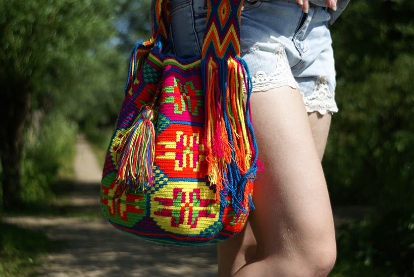 My Mochila bag outfit ootd fashion blog wayuu isabelli colombia hippy boho