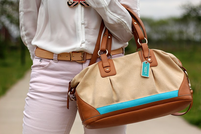 ootd outfit tosca blu bag canvas sarandipity