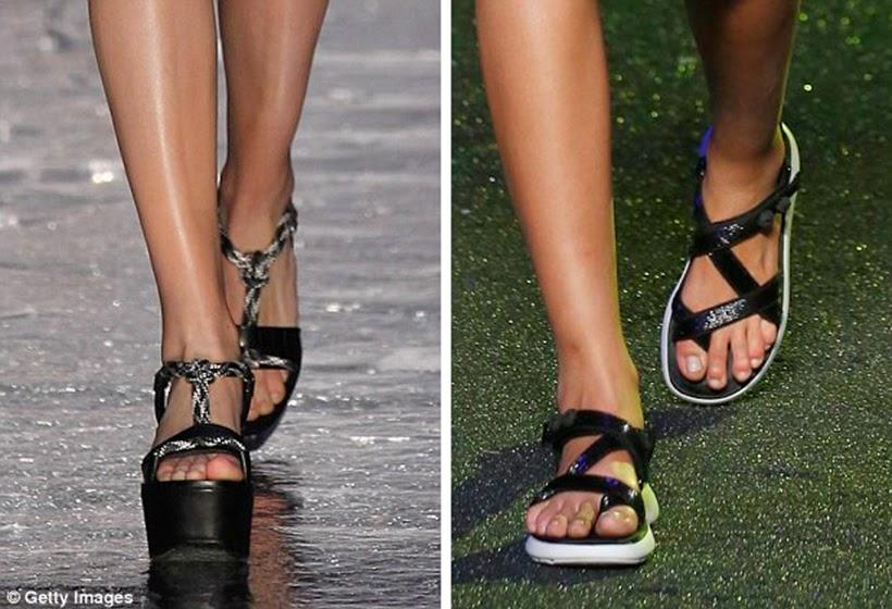TEVA inspired catwalk sandals
