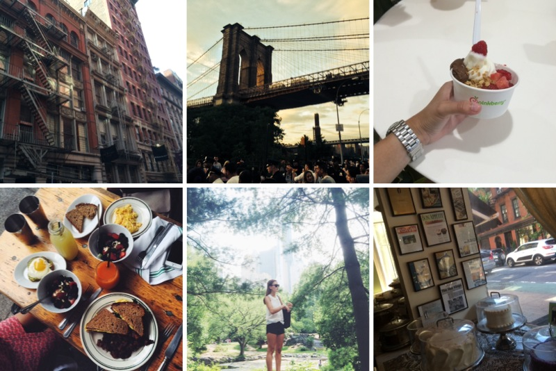 new york city hotspots soho brooklyn bridge magnolia bakery central park brittamaxime sarandipity
