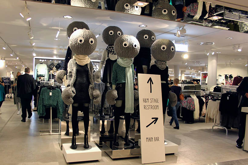 HMLovesRotterdam HM Flagshipstore Europe Mannequins Knitheads Divided