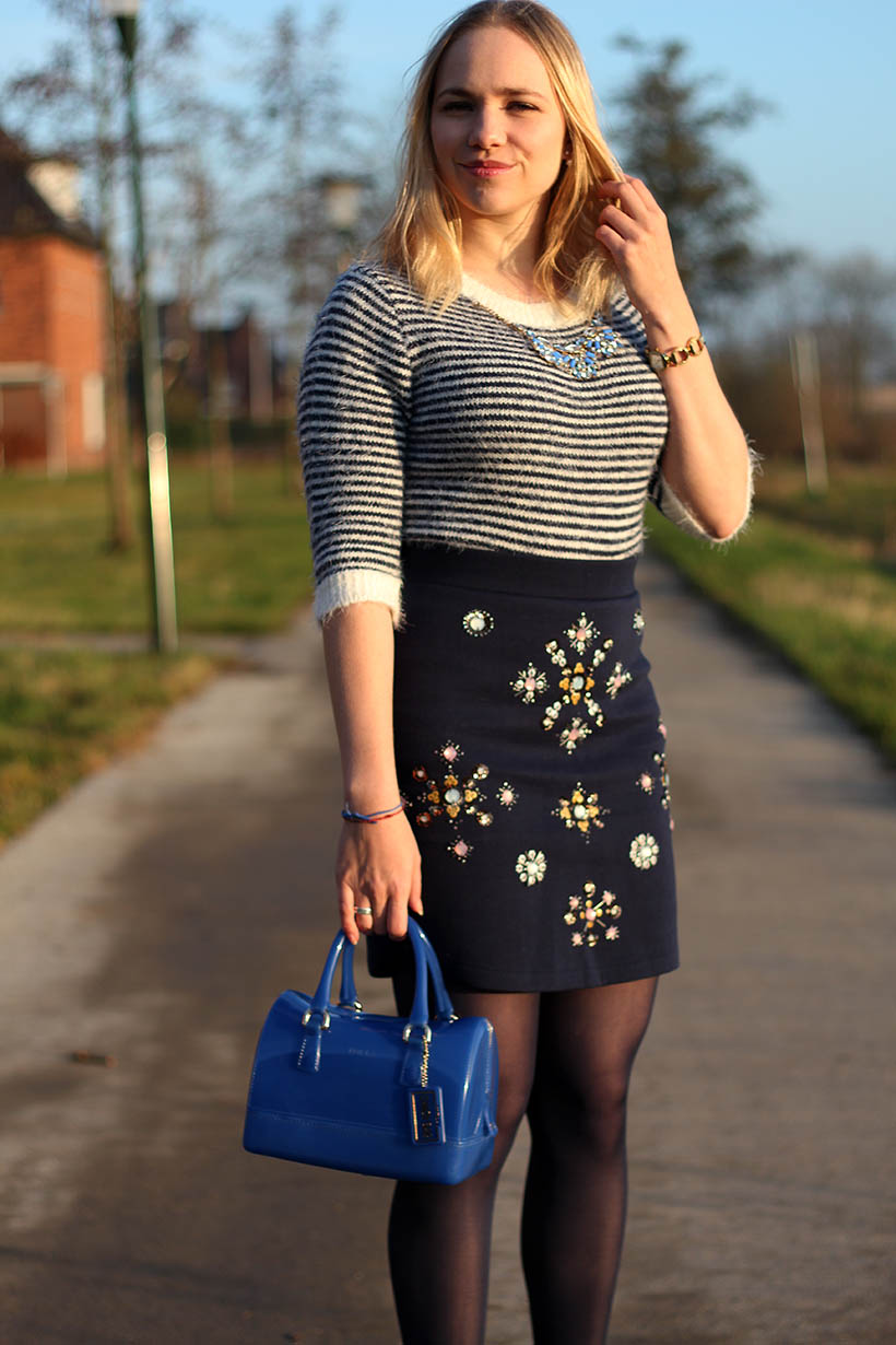 bejeweled outfit ootd h&m primark furla sarandaadriana fashion blog 3