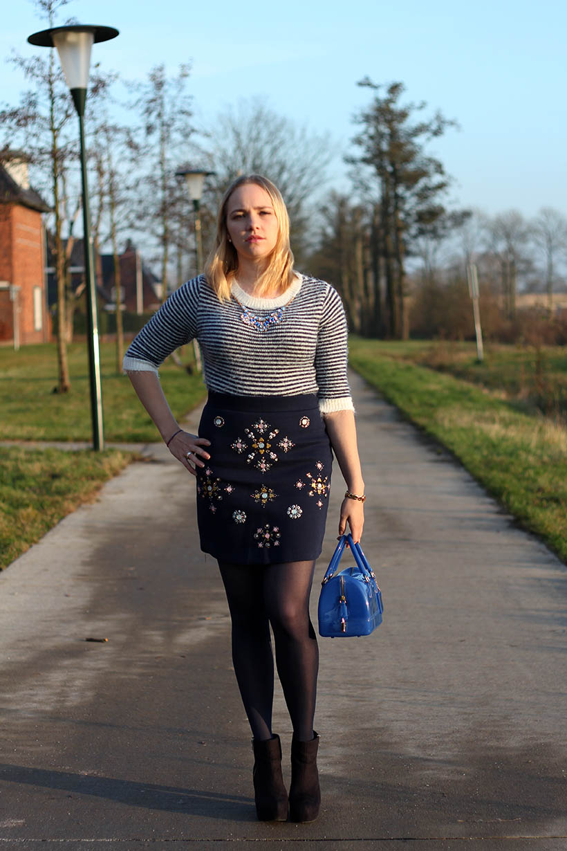 bejeweled outfit ootd h&m primark furla sarandaadriana fashion blog 5