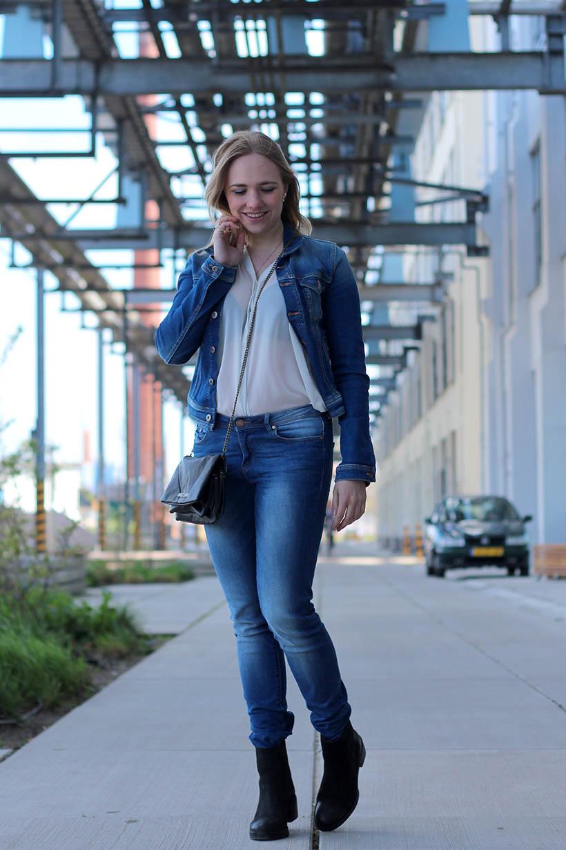 Denim on Denim ourtfit OOTD dutch fashion blogger sarandaadriana nederlandse modeblogger sarandipity4