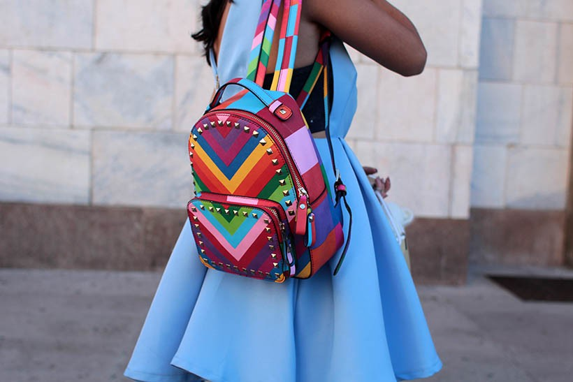 milan fashion week streetstyle dutch fashion blogger sarandaadriana valentino backpack mfw