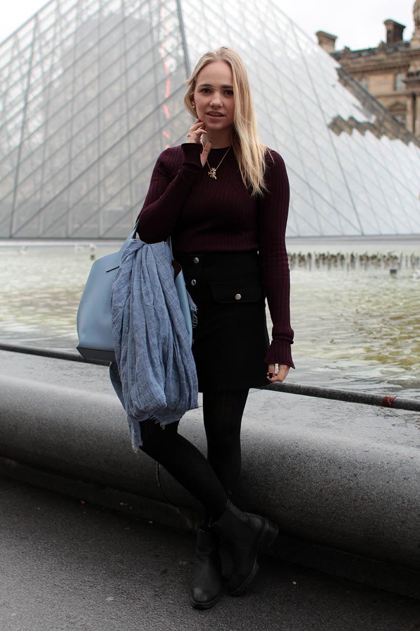 Louvre Outfit ootd fashion blogger SarandaAdriana paris dutch blog style zara imyf asos furla5
