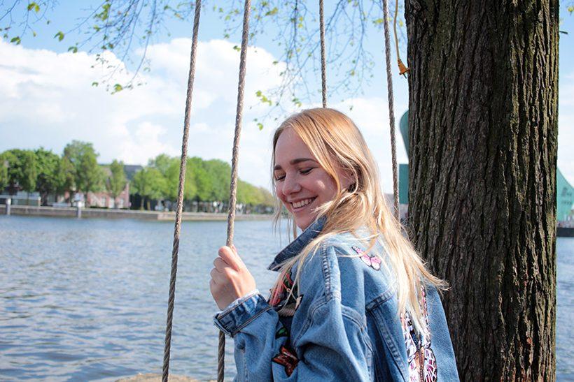 Bootuitje amsterdam hannekesboom schommel swing denim DIY