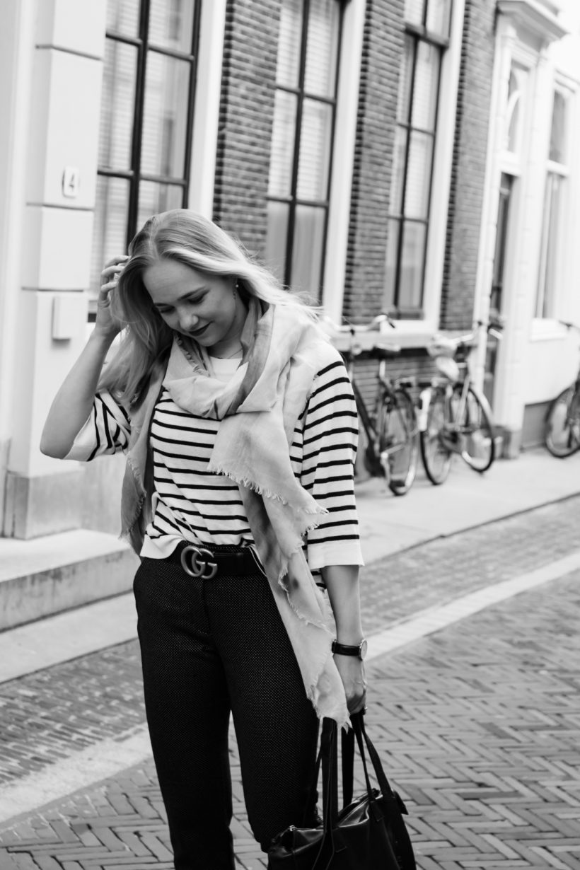 Stripes, dots and cats outfit SarandaAdriana by Alexandra Huijgens